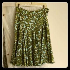 Blue and green floral print skirt merona 8